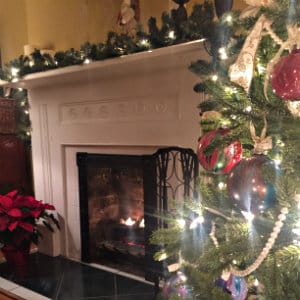 Christmas Decor at Oak Hill on Love Lane Bed and Breakfast Inn in Waynesville NC